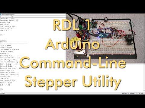 RDL - Arduino Serial Command-Line Stepper Motor Utility