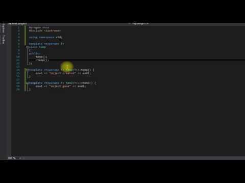 Beginner C++ tutorial 33 (class templates)