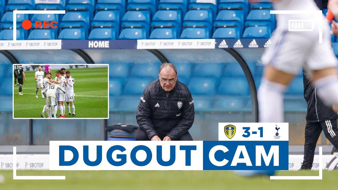 Bielsa ball at its best!   Dugout Cam   Leeds United 3-1 Tottenham Hotspur