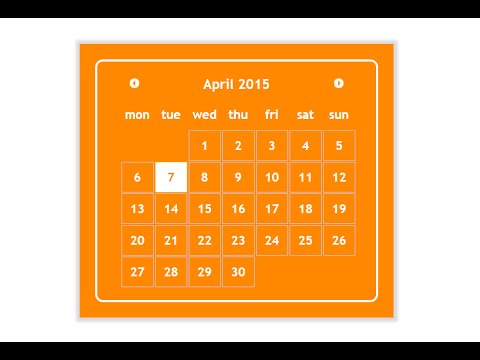 Sample 2: Jquery datepicker css style