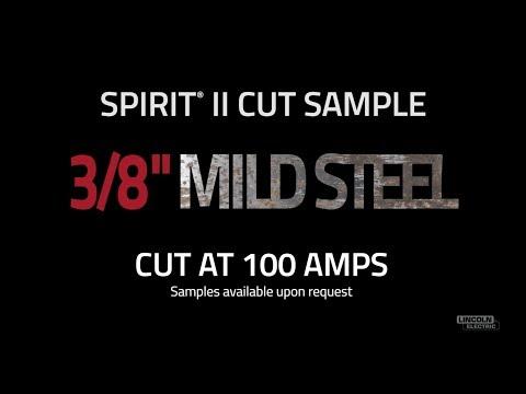 "Spirit® II Plasma Cut Sample, 3/8"" Mild Steel Cut at 100 AMPS"