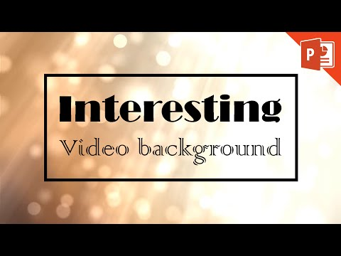 Add a Playing Video Background in PowerPoint 2013 2016 365 Tutorial