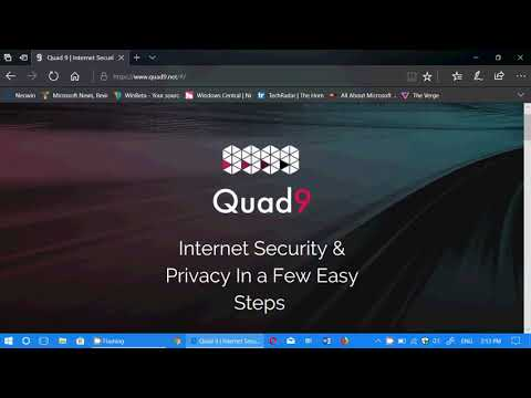 Using QUAD 9 to keep you secure on the Internet with a change in the DNS servers