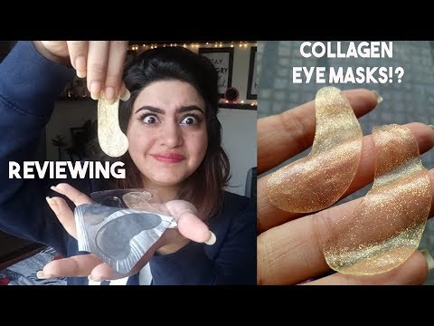GOLD CRYSTAL COLLAGEN EYE MASK DEMO & REVIEW| GLOSSIPS