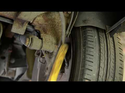 Removing Rusted Corroded Nut Near Rear Shock Absorber