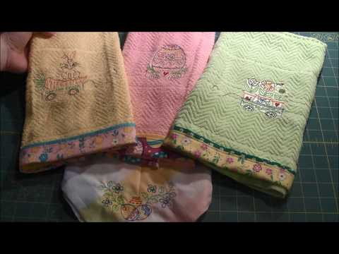 Spring Towels - Machine Embroidery