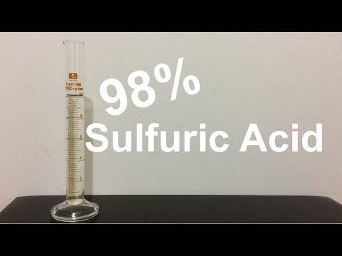 Making 98% Sulfuric Acid by Distillation
