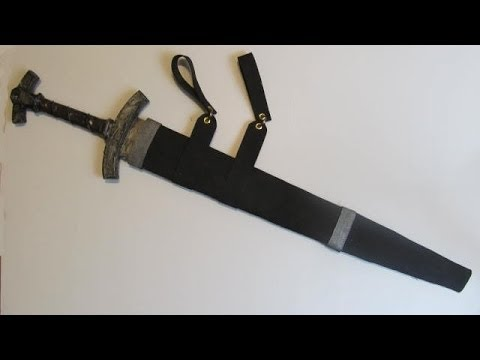 Make a sword sheath (scabbard) out of foam