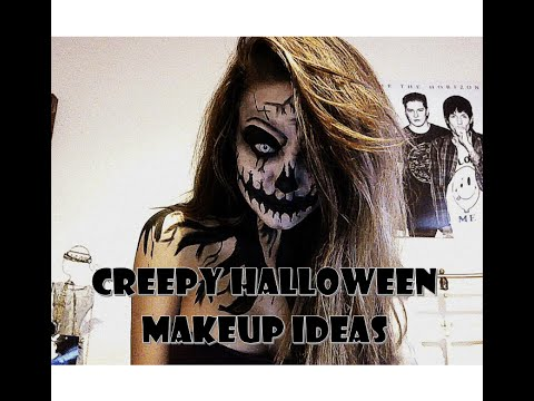Scary/Creepy Halloween ideas make up tutorial
