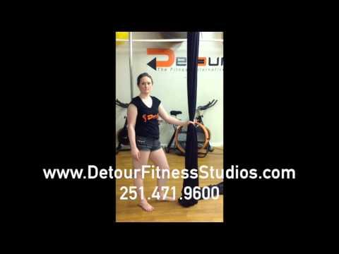 Aerial Yoga/Silks Class Demo Detour Fitness Studios