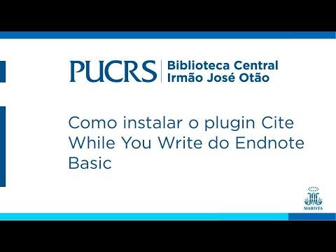 Como instalar o plugin Cite While You Write do Endnote Basic