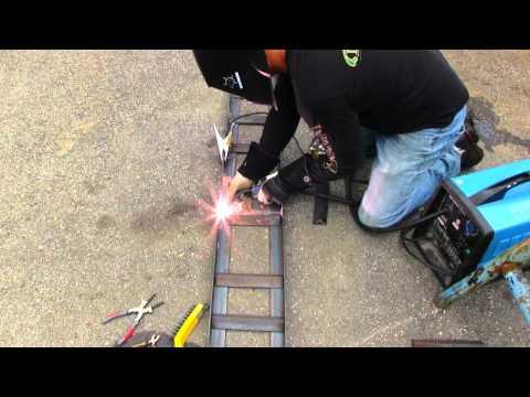 How to make heavy duty steel loading ramps