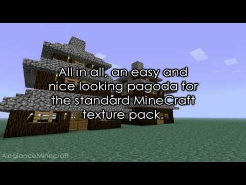 Minecraft - How to build a Simple Pagoda [Tutorial]