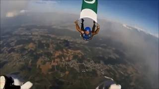 Skydiving with Pakistani Flag in German Skies - Ahmad Mustafa