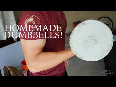 How to Make Homemade Dumbbells! I DIY Concrete Weights (re-upload)