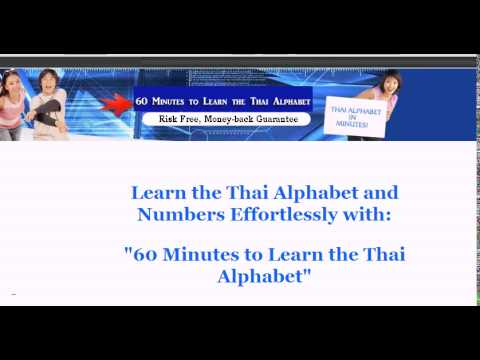 Learn the Thai Alphabet in Minutes - Learn Thai Font, Thai Symbols, for Travelling in Thailand