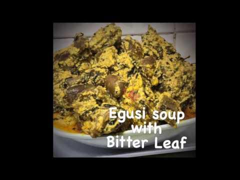 Making Nigerian Egusi Soup & Bitter Leaves
