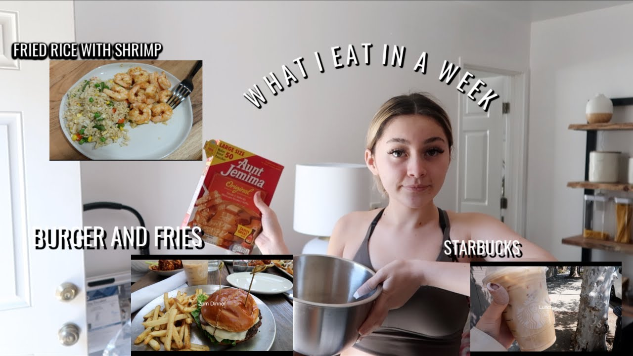 what I eat in a week living on my own