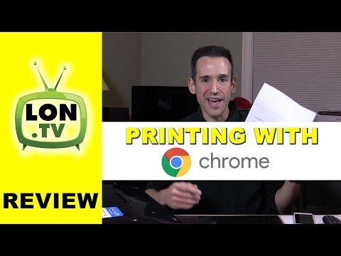 How to Print on a Chromebook running Chrome OS & Google Cloud Print