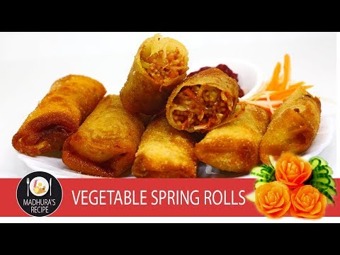 Veg Spring Roll | Home Made Spring Rolls | With  Madhuras Recipe | Ep - 652