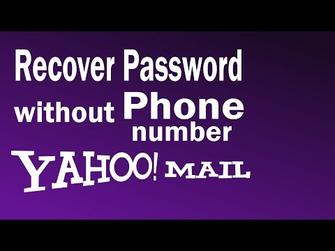 How To Recover Yahoo Password Without Phone Number   How to Reset Yahoo Password