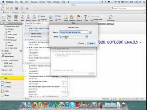 Saving Local Outlook Emails   Mac