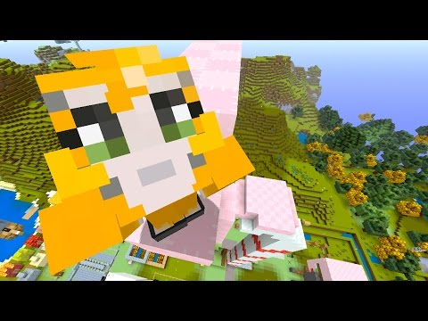 Minecraft Xbox - Quest To Build A Giant Robot Glowing Flamingo Called Jerry (163)