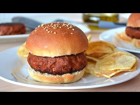 Spicy Pork Burgers - How to Make Pork Hamburgers