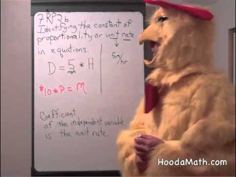 Identify the Constant of Proportionality or Unit Rate in Equations