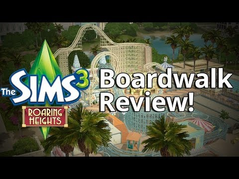 The Sims 3 Boardwalk Venue Review - Rollercoasters!?