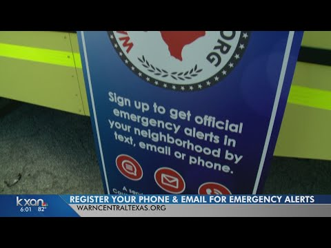 Register with CAPCOG to get emergency weather alerts on your phone