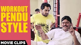Workout Pendu Style - Funny Video | Rana Ranbir & Ghulle Shah | Jugaadi Dot Com | Punjabi Movie