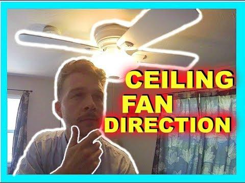 Ceiling Fan Direction - Summer vs. Winter -Jonny DIY