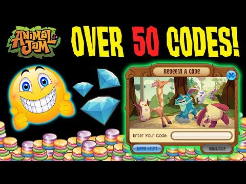 50+ WORKING ANIMAL JAM CODES! GEMS, PROMO ITEMS, DIAMOND! EVERY 2017 CODE!
