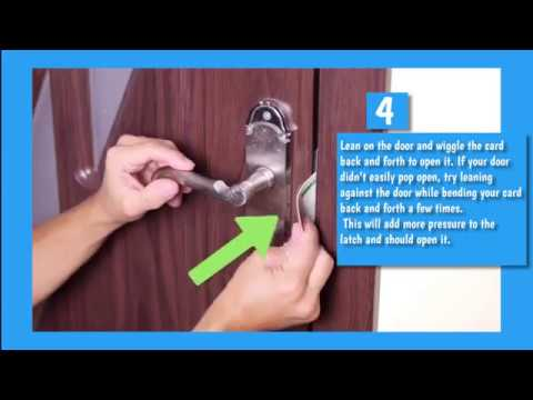 HOW TO : Open a Door with a Credit Card