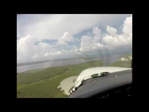 Flying over Fort Myers and Sanibel
