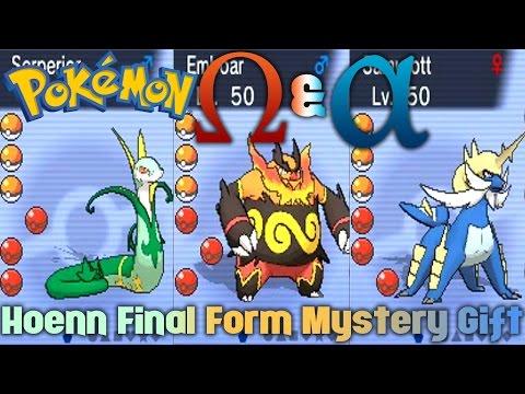 Pokemon Omega Ruby/Alpha Sapphire - Hoenn Final Form Mystery Gift
