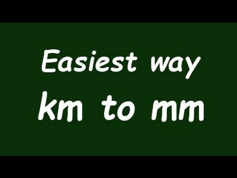✅ Convert Km to mm ( kilometer to milimeter) with Example