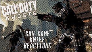COD Ghosts - Gun Game Knifing Rage Reactions! #3