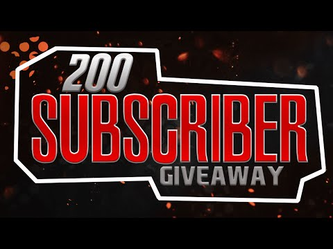 My 200 Subscriber Special Giveaway! (Includes YouTube Logo, Banner & More!) CLOSED!