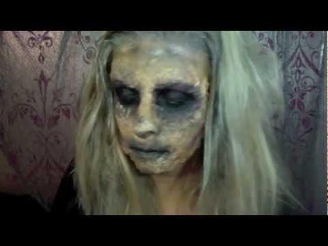 zombie makeup tutorial (Halloween)