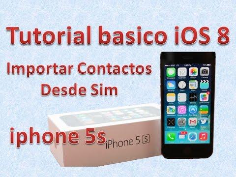 Tutorial y Guía de uso Iphone 5s parte 96 pasar los contactos de tu SIM al iPhone