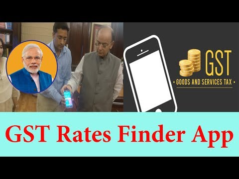 Indian Government launched GST Rate Finder app-2017