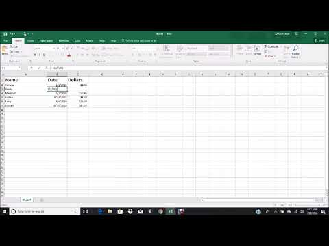 Excel Tutorial how to organize, sort, and add or remove a row
