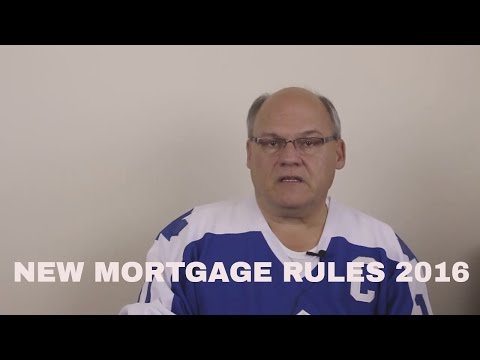 New Mortgage Rules Canada 2016