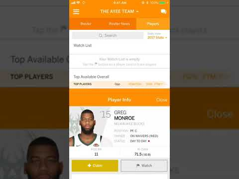 ESPN Fantasy NBA Basketball: How to add & drop players from waivers