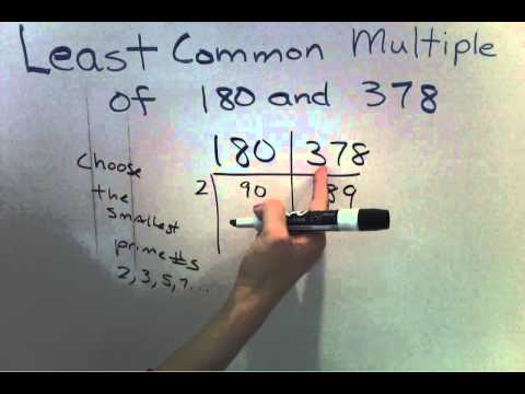 LCM - Least Common Multiple LCM  with larger numbers (Easier Method) (7 of 7)