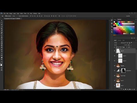 Digital Painting Effect in Photoshop | Photoshop tutorial