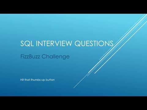 SQL Interview Questions - FizzBuzz Challenge
