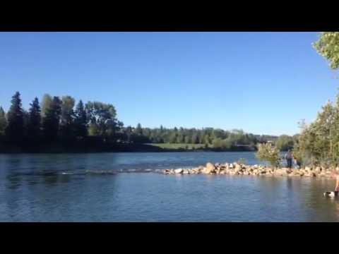 Bow River in calgary alberta